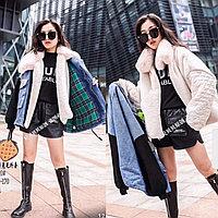 Джинсовые курточки со съёмной меховой подстёжкой 3 в 1 для девочек
