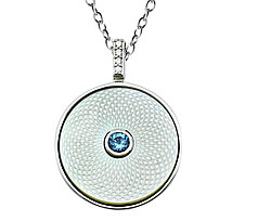 Серебряный кулон  Brosh Jewellery (Серебро 925) покрытие родий, вставка Цирконий.