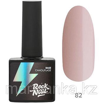 Камуфлирующая база RockNail 82 Pink Chiffon, 10мл