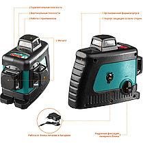 """Нивелир лазерный """"LL-3D-3"""", 360 градусов, 20м / 70м (детектор), сверхъяркий, KRAFTOOL 34640-3, фото 3"""
