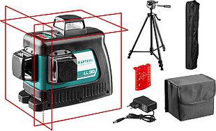 """Нивелир лазерный """"LL-3D-3"""", 360 градусов, 20м / 70м (детектор), сверхъяркий, KRAFTOOL 34640-3"""
