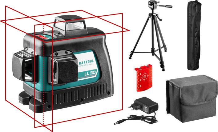 """Нивелир лазерный """"LL-3D-3"""", 360 градусов, 20м / 70м (детектор), сверхъяркий, KRAFTOOL 34640-3, фото 2"""