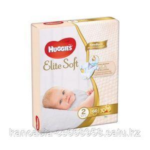 Huggies Подгузники Huggies,  Elite Soft Jumbo 2, S, 66 шт/упак.