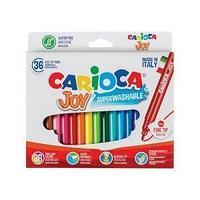 Carioca Фломастеры, Joy, 30 цветов, 36 штук, смываемые.