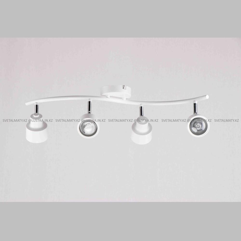 Универсальный потолочно-настенный спот в стиле Модерн на 4 лампочки