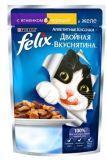 Felix Ягнёнок и Курица Аппетитные кусочки Двойная вкуснятина Феликс Влажный корм для кошек, 85г