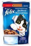 Felix Говядина и Птица Аппетитные кусочки Двойная вкуснятина Феликс Влажный корм для кошек, 85г