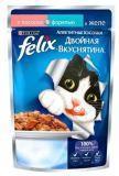 Felix Лосось и Форель Аппетитные кусочки Двойная вкуснятина Феликс Влажный корм для кошек, 85г