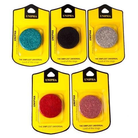 Подставка-держатель для смартфона PopSockets [ПопСокетс] UNIPHA (Бордовый)