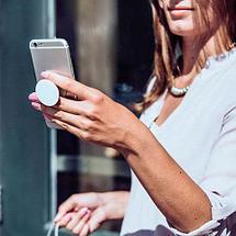Подставка-держатель для смартфона PopSockets [ПопСокетс] UNIPHA (Бордовый), фото 3