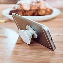 Подставка-держатель для смартфона PopSockets [ПопСокетс] UNIPHA (Белый), фото 3
