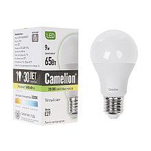 Camelion LED9-A60/830/E27 Эл. лампа светодиодная Мощность 9Вт, Тип колбы А60, Цвет. температура 3000К