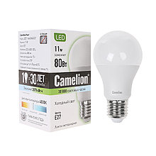 Camelion LED11-A60/845/E27 Эл. лампа светодиодная 11Вт, Тип колбы А60, Цвет. температура 3000К, холодный
