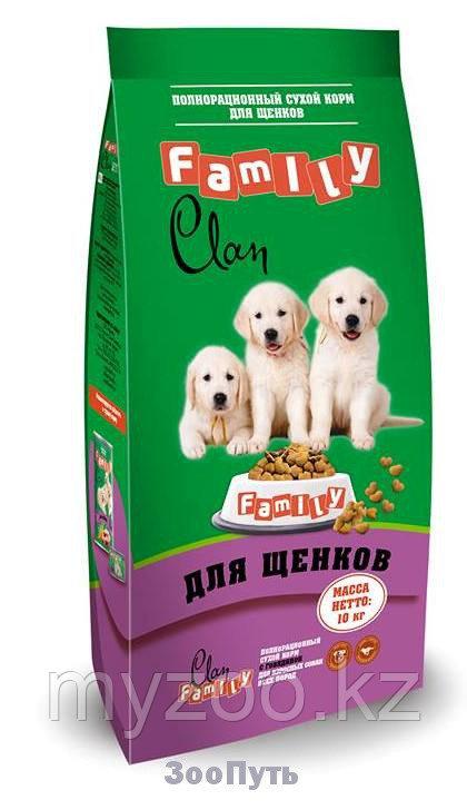 CLAN FAMILY Сухой корм для щенков всех пород Курица, 10 кг