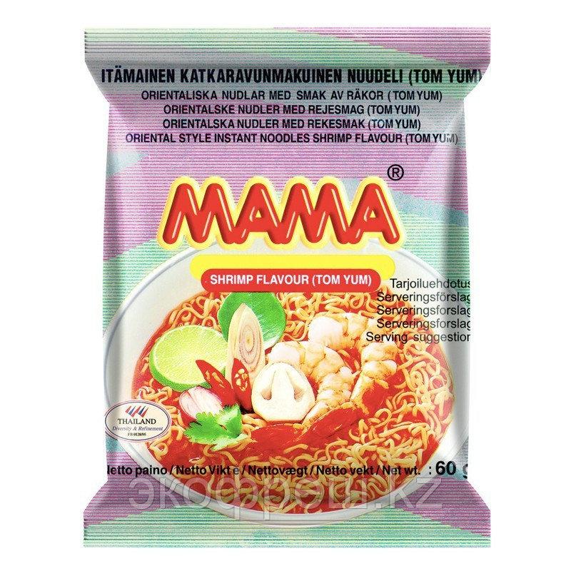 Тайская лапша MAMA Tom Yum со вкусом креветки, 60 Г