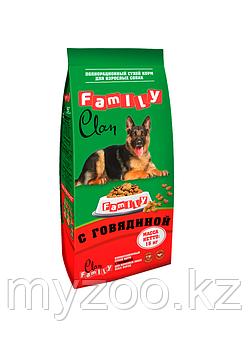 CLAN FAMILY Сухой корм для собак всех пород Говядина, 15 кг