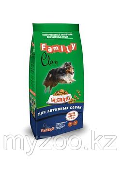 CLAN FAMILY Сухой корм для Активных собак Курица, 15 кг