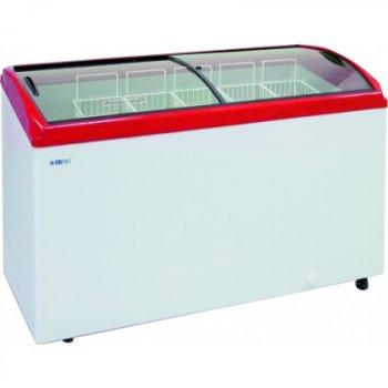 Ларь морозильный GRC CF200C красный