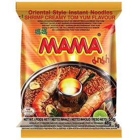 Тайская лапша Mama creamy tom yun со вкусом креветок 55 гр.