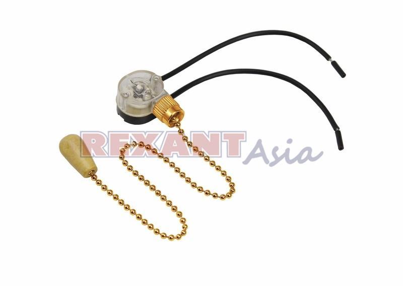 Выключатель Gold с проводом и деревянным наконечником, (упаковка 10 шт), (32-0104), Rexant
