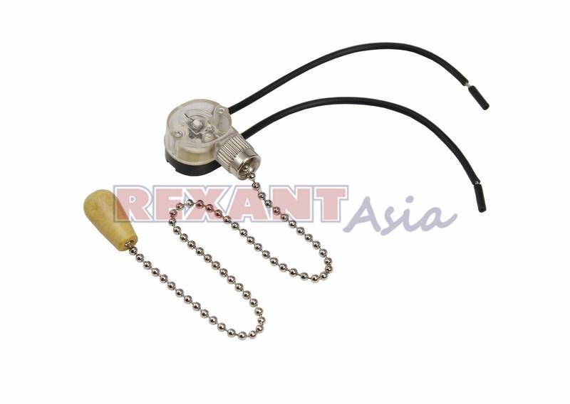 Выключатель SILVER с проводом и деревянным наконечником, (упаковка 10 шт), (32-0103), Rexant