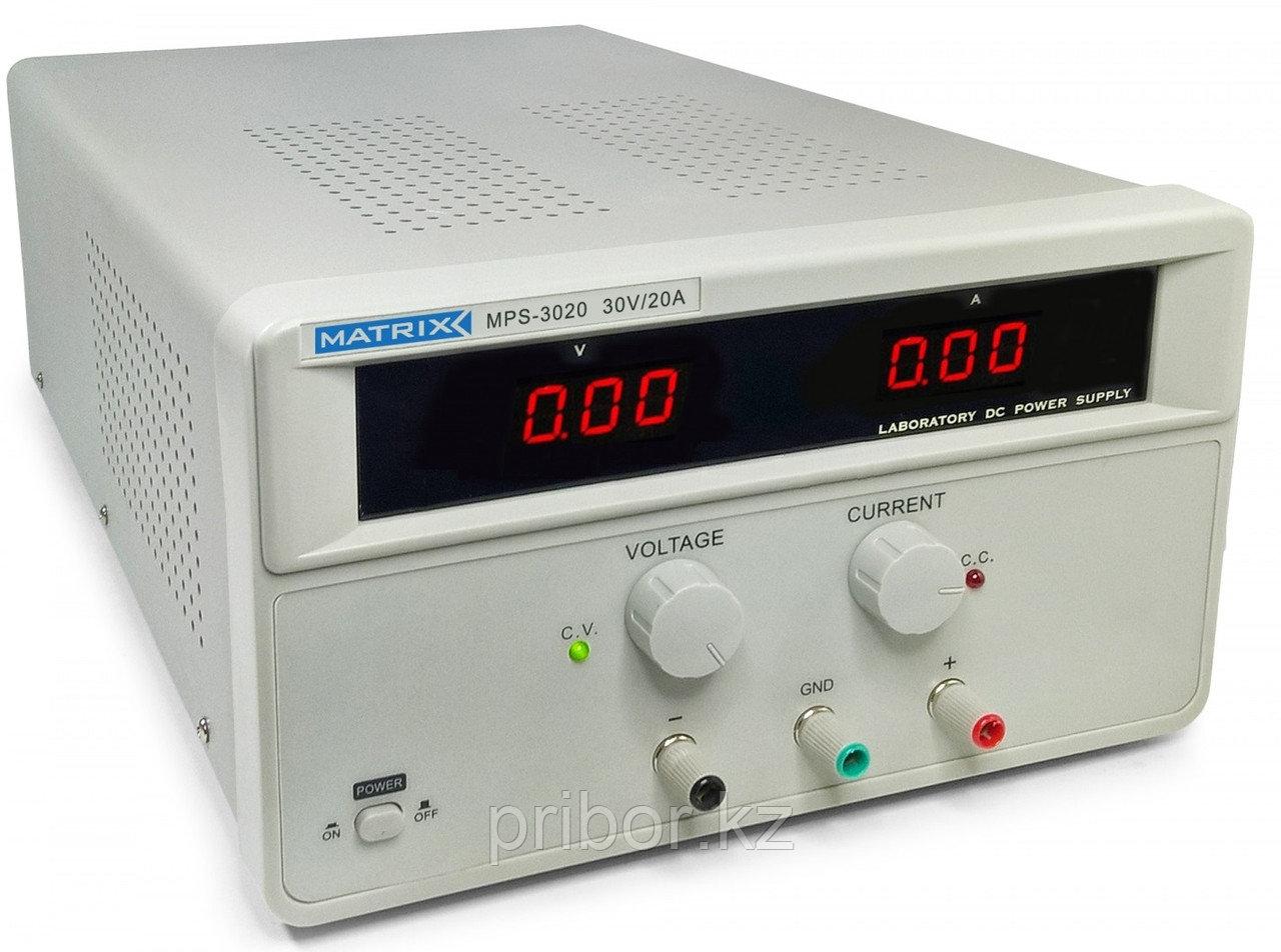 Одноканальный регулируемый источник постоянного напряжения (30 В, 20 А) MATRIX MPS-3020