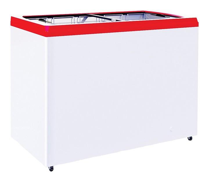 Ларь морозильный GRC CF300F красный