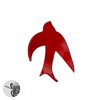 Моносерьга Brosh Jewellery Ласточка ручной работы (акрил, красный)