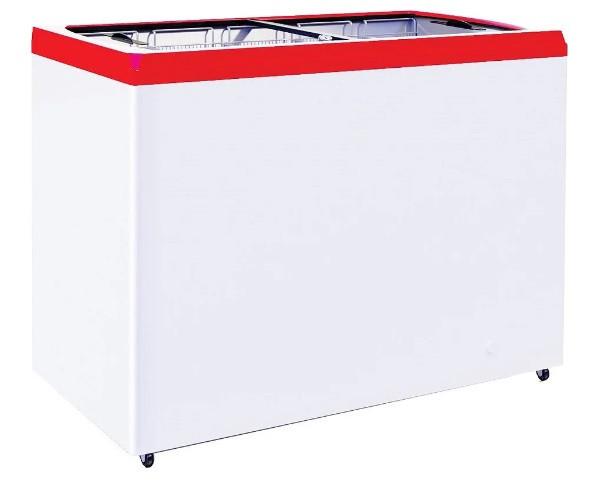 Ларь морозильный GRC CF400F красный