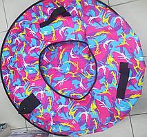 Тюбинг-ватрушка с пластиковым дном 100 см