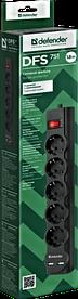 Сетевой фильтр Defender DFS 751 - 1,8 М, 2xUSB, 2.1A, 5 outlets