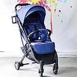 Коляска Mstar (Baby Grace) с чехлом на ножки Синий, фото 3