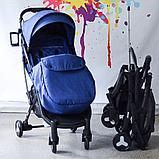 Коляска Mstar (Baby Grace) с чехлом на ножки Синий, фото 2