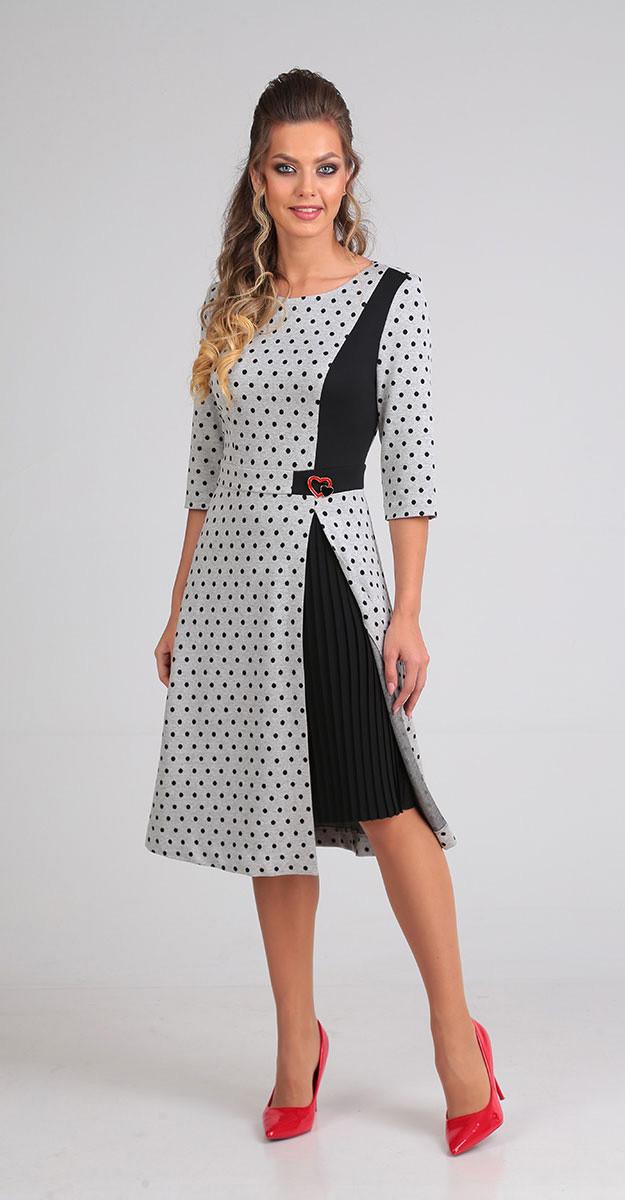 Платье Sandyna-13607/1, серый, 44