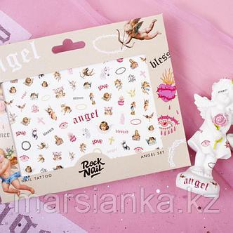 Набор слайдеров RockNail Nail Tattoo Angel, фото 2