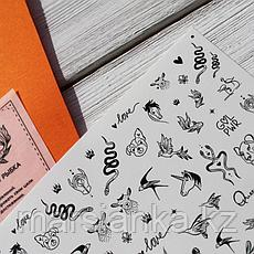 Набор слайдеров RockNail Nail Tattoo Fauna, фото 3