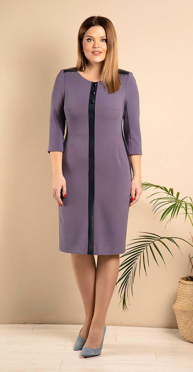 Платье JeRusi-2005/1, сиреневый оттенок, 54