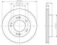 Тормозные диски Optimal Kia Sportage (97-03, передние, Trw, D284)