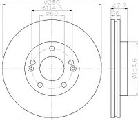 Тормозные диски Kia Soul (09->,передние, Veka, D280)