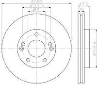Тормозные диски Kia Ceed  (06->,передние, Veka, D280)