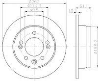 Тормозные диски Kia Ceed  (06->,передние, nipparts, D262)