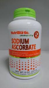 NutriBiotic, Immunity, аскорбинат натрия, кристаллический порошок, 227г. Витамин С