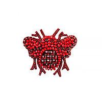 Брошь Brosh Jewellery ручной работы (красный)