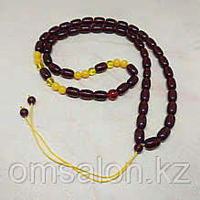 Бусы-чётки из тибетского янтаря
