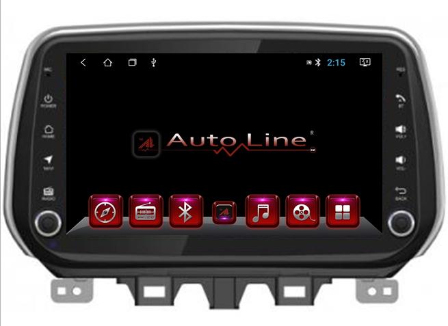 Автомагнитола AutoLine Автомагнитола  для Hyundai Tucson 2018-2019 г HD ЭКРАН 1024-600 ПРОЦЕССОР 4 ЯДРА (QUAD