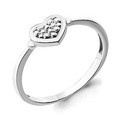 Серебряное кольцо AQUAMARINE (#708730)