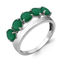 Серебряное кольцо с агатом зелёным AQUAMARINE (#708964)