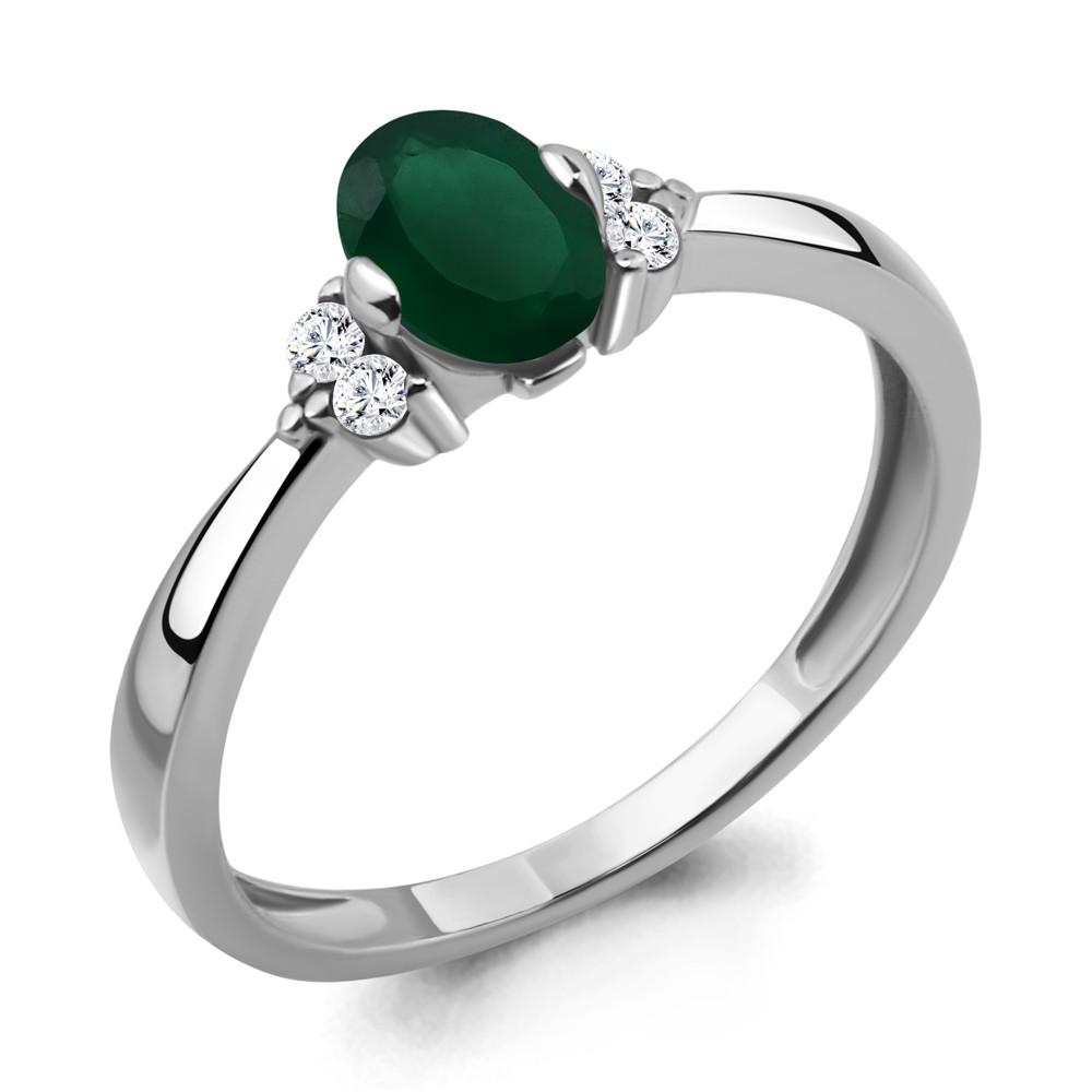 Серебряное кольцо с агатом зелёным и агатом AQUAMARINE (#433252)