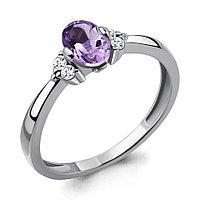 Серебряное кольцо с аметистом AQUAMARINE (#410010)