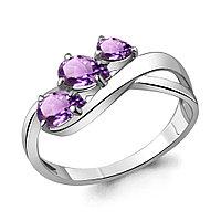 Серебряное кольцо с аметистом AQUAMARINE (#709095)